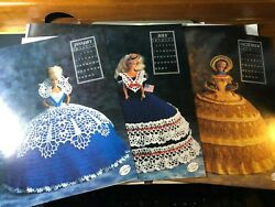 Annie's Calendar Bed Doll Society 1991 Crochet Dress Patterns Barbie Collectors