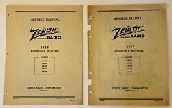 You Pick One Vtg Original Zenith Automobile Receivers Manual Booklets 1937 1938