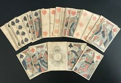C.1817 I. Hardy English Playing Cards Duty 6 Pence London 52/52 Rare With Case