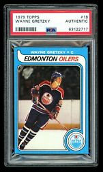 1979-80 Topps Wayne Gretzky 18 Rookie Rc Psa Authentic Centered And Sharp