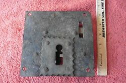 Antique Wrought Iron Door Lock Latch Hand Forged Church Or Jail -no Skeleton Key