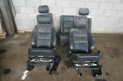 Set Of 4 Front Rear Left Right Seat Black Leather Oem Mercedes W463 2002-09