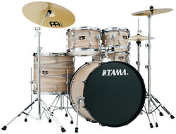 Tama Imperialstar 5pc Complete Kit With 22 Bass Drum - Natural Zebrawood Wrap
