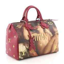 Authentic Louis Vuitton Masters Collection Titian Speedy Bag Jeff Koons Lv Purse