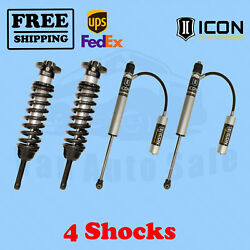 Kit Of 4 2.5 Coilovers+2.0 Rr Shocks Icon 0-3.5 For Toyota Tacoma 05-15