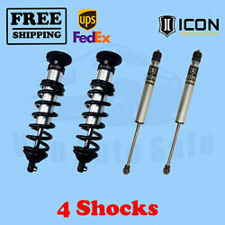 Kit Of 4 2.5 Coilovers+2.0 Ir Shocks Icon For Toyota Tundra 2wd 2000-2006