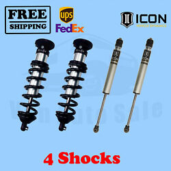 Kit Of 4 2.5 Coilovers+2.0 Ir Shocks Icon For Toyota Tundra 4wd 2000-2006