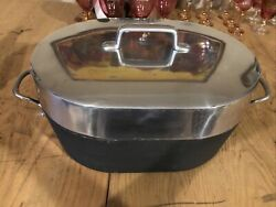 Large Vintage Magnalite Ghc Turkey Oven Roaster Pot With Lid And Trivet Usa 20andrdquo