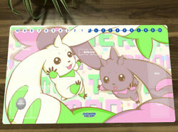 Digimon Playmat CCG DTCG Mat Terriermon Lopmon Trading Card Game Mat With Zones