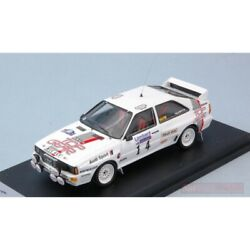 Scale Model Compatible With Audi Quattro N.14 Retired Rac Rally 1984 N.harris-m.