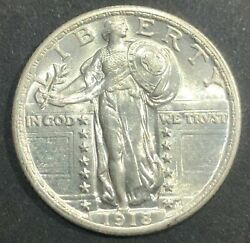 United States 1918 Fh Standing Liberty Silver Quarter