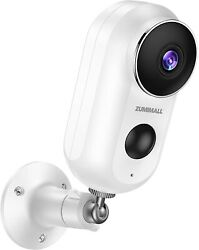 Zumimall Wireless Rechargeable Battery Wifi Home Security Camera 1080p Video