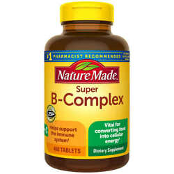 Nature Made Super B-complex With Vitamin C And Folic Acid 460 Tablets Exp 4/23