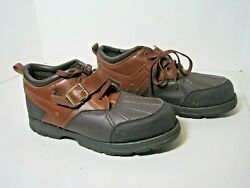 Us Polo Assn Men's Brown Lace-up Low-cut Boots 216526f74 W/ Adjustable Strap 11