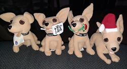 Taco Bell Plush Dog Talking Toy Chihuahua Lot Of 6