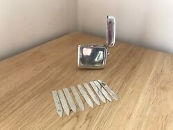 Fabulous Antique Edwardian 1901 Silver Cased Set Of Butt Markers By W.g. Keight