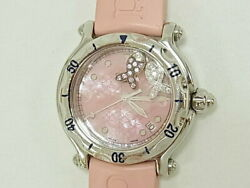 Chopard Happy Sports Happy Fish Boys Used Watch Pink Excellent Condition