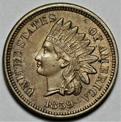 1859 Indian Head Cent - Nice Detail  Us 1c Penny Coin  Lot 219