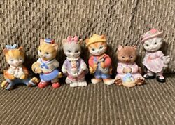 Vintage 1993 / 1994 Bc Collectibles Kitten Cat Ceramic Figurines Lot Cats