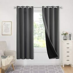 Deconovo Bedroom 100 Blackout Curtains 72 Long Bedroom Energy Saving Thermal I