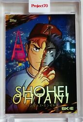Topps Project 70 Card 324 Shohei Ohtani By Dj Skee Rainbow Foil 'd /70 - Angels