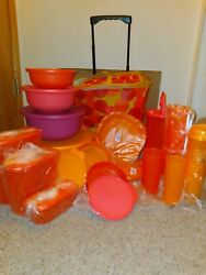 Brand New 30pc Tupperware Serving Set Picnic Radiance Colors By Tupperware