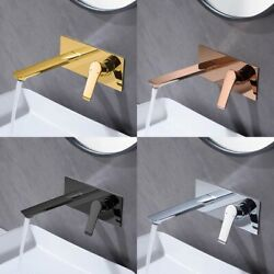 Conceal Square Bath Mixer Bathroom Sink Tap Wall Mount Brass With Single Handle