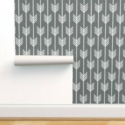 Peel-and-stick Removable Wallpaper Arrows Grey Arrow And