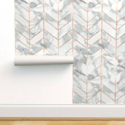 Peel-and-stick Removable Wallpaper Mottled Chevron Pleat Arrow Marble