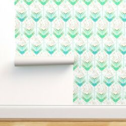 Peel-and-stick Removable Wallpaper Arrow Geometric Watercolor Blue Hipster