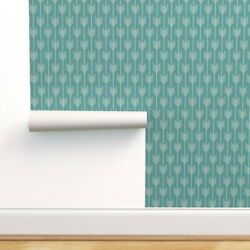 Peel-and-stick Removable Wallpaper Arrows In Marine Blue Designed Arrow Teal