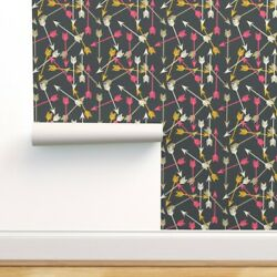 Peel-and-stick Removable Wallpaper Arrow Arrows Southwest Tribal Scattered