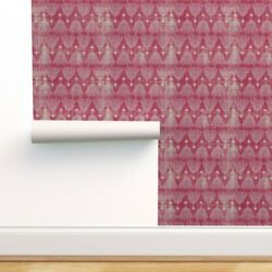 Peel-and-stick Removable Wallpaper Boho Arrows On Pink Feathers Arrow Baby Girl
