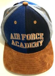 Vintage Us Military Air Force Academy Suede California Headwear M L Hat Nwot