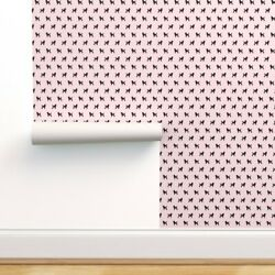 Wallpaper Roll 50s Poodle Pink Dogs Pet Silhouette Dog 24in X 27ft