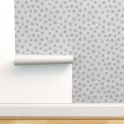 Wallpaper Roll Grey Petoskey Stone Fossil Abstract Modern Geology 24in X 27ft