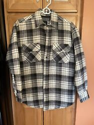 David Taylor Mens Flannel Jacket Lightweight Size Small S