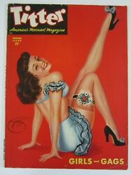 Titter Vol. 1 4, August 1947 Vg/fn Great Devoress Cover 4th Issue