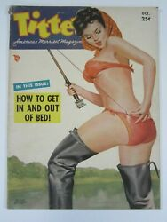 Titter Vol. 9 2, October 1952 Vg+ Classic Driben Fishing Cover Betty Page