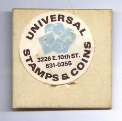 1969-s Lincoln Cent Universal Stamps And Coin Sticker Closed Coin Shop Memory
