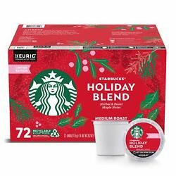 🔥 Starbucks Limited Edition Christmas / Holiday Blend Coffee 72 K-cup 🔥4/2022