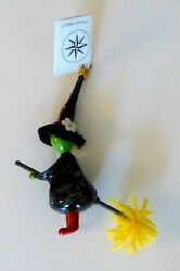 Christopher Radko 1997 Fly By Night Small Witch On Broom Halloween Orn...italy