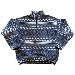 Vintage Synchilla Aztec Snap-t Pullover Fleece Sweater Menand039s Xl 90and039s
