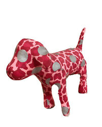 New Victoriaand039s Secret Pink Stuffed Dog Pink Leopard Print And Silver Collectible