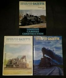 Narrow Gauge And Short Line Gazette Lot Of 3 Issues 1975 1977 Model Trains