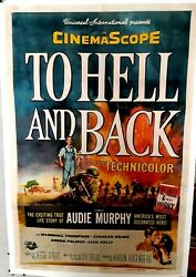 Poster On Linen Audie Murphyand039s To Hell And Back 1955 Us1sht Linenbacked Rare Htf