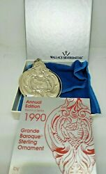 Vintage 1990 Wallace Grand Baroque Sterling Christmas Ornament