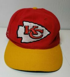 Kansas City Chiefs Nfl Vintage Snapback Hat Cap American Needle Red And Yellow