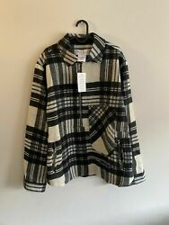 We11done Checked Half Zip Plaid Wool Pullover Shirt One Size