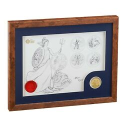 2020 Britannia One Ounce Gold Proof Coin And Print Set - Limited Edition Only 25